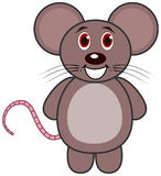 A very cheerful standing mouse Royalty Free Stock Image