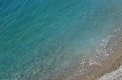 Very clear blue sea and  beach. Royalty Free Stock Image