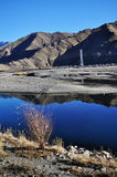 Very clear sky of tibet. Very clear sky and river of tibet Stock Photos