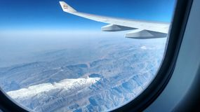 Very clear view from an airplane above north Iran Stock Photos