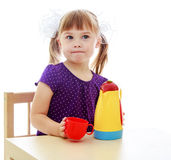 Very clever little girl Royalty Free Stock Photography