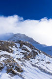 Very close to the top of Kaprun glacier at Austrian Alps Royalty Free Stock Photo