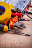 Very close up view electrical tools insulation Stock Photo