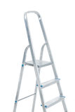 Very close up view on stepladder isolated Stock Photo