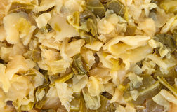 A very close view of cooked cabbage Stock Photo