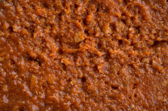 Very close view of sloppy joe mix Royalty Free Stock Photo