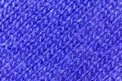 Macro view on blue wool texture background stock photography