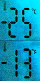 Thermometer - very cold Royalty Free Stock Photos