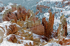 A very cold day in Bryce Canyon Stock Photo
