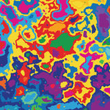 Very colored map, spot of paint. Stock Photo