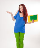 Very colorful cute student girl. Stock Images