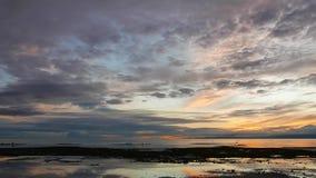 Colorful sunrise time lapse stock footage