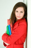 Very colorful young student. Royalty Free Stock Image