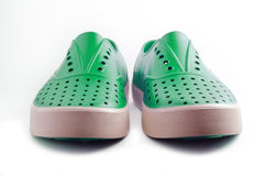 Very comfort sneakers in green Royalty Free Stock Photos