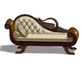 Very comfortable sofa from biedermeier time Royalty Free Stock Photos
