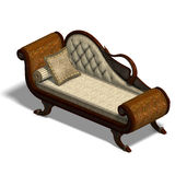 Very comfortable sofa from biedermeier time Royalty Free Stock Photo