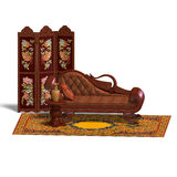 Very comfortable sofa from biedermeier time Royalty Free Stock Photography
