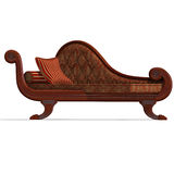 Very comfortable sofa from biedermeier time Stock Images