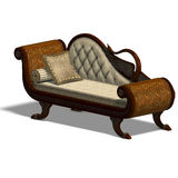 Very comfortable sofa from biedermeier time Stock Image