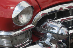 Very Cool Classic Car II. Another Very Cool Classic Red Automobile detail royalty free stock photo