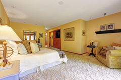 Very cozy master bedroom interior Royalty Free Stock Images