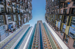 Very Crowded but colorful building group , Hongkong Royalty Free Stock Image