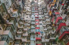 Very Crowded but colorful building group , Hongkong Stock Image