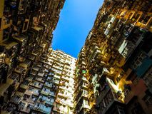 Very Crowded but colorful building group in Tai Koo, Hongkong.  royalty free stock image