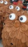 Very Curious Owls flock Stock Photo