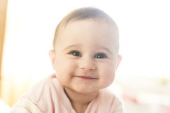 Very cute baby girl smiling Stock Image