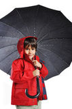 Very cute child with umbrella Royalty Free Stock Images