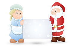 Very Cute Couple - Christmas Vector Illustration Royalty Free Stock Images