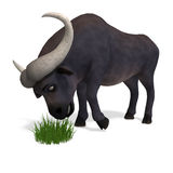 Very cute and funny cartoon buffalo Stock Image