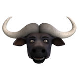 Very cute and funny cartoon buffalo Royalty Free Stock Photos