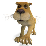 Very cute and funny female cartoon lion Royalty Free Stock Photo