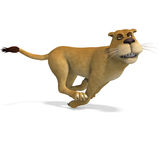 Very cute and funny female cartoon lion Royalty Free Stock Photos