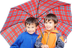 Very cute little boys in autumn clothes Royalty Free Stock Photo