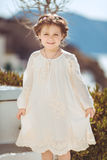Very cute little princess outdoors in city street Royalty Free Stock Photos
