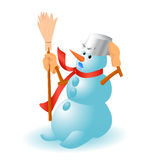 Very cute snowman for Christmas. Isolated vector Stock Photography
