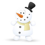 Very Cute Snowman - Christmas Vector Illustration Stock Photo