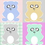 Very Cute Teddy Bear vector set  Stock Photo