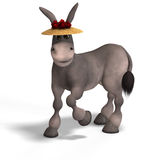 Very cute toon donkey Royalty Free Stock Photos
