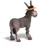 Very cute toon donkey Stock Image