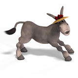 Very cute toon donkey Stock Photography