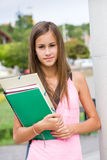 Very cute young student girl outdoors. Stock Photography