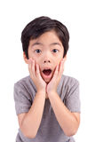 A very cute young surprised boy looking at camera Royalty Free Stock Image