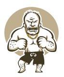 Very dangerous  man, cartoon vector illustration Royalty Free Stock Photography