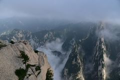 Xi An Hua Shan of China. A very dangerous mountain peak in China`s Shaanxi Province Stock Photography