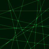 Very dark background with green laser rays. Black background with green laser rays.Very dark background with green krypton laser rays Royalty Free Illustration