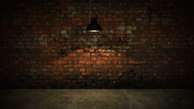 Very dark and dim concrete room. 3D rendering Stock Photography